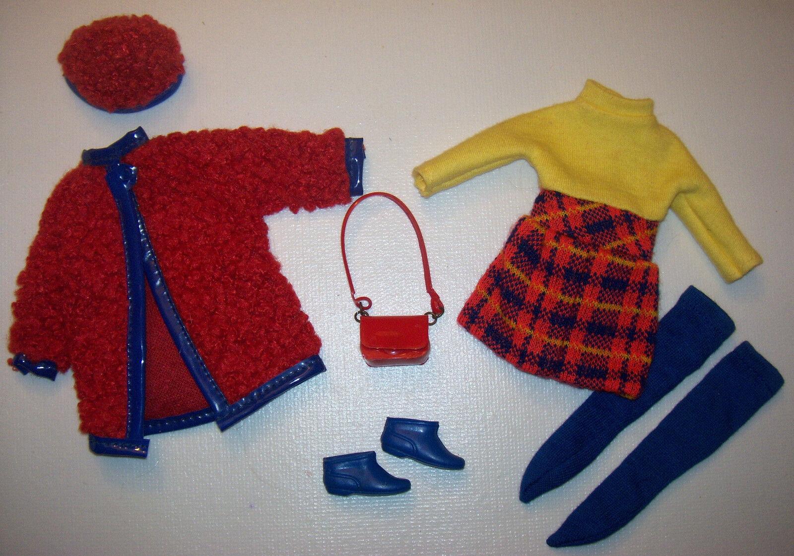 Vintage Skipper Bambola  1746 Completo Wooly Winner 1970 Barbie