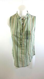 LILY-WHITE-WOMENS-STRIPED-SLEEVELESS-BLOUSE-TOP-SIZE-XS