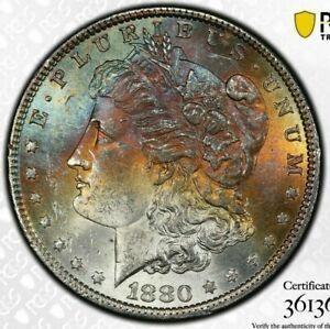 1880-P-USA-MORGAN-SILVER-DOLLAR-PCGS-MS62-UNC-CHOICE-TONED-GEM-COLOR-BU-1-DR