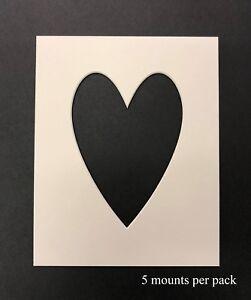 8 x 8 pouces en forme de coeur mounts to fit 6 x 6 pouces photo /& photo-pack de 5