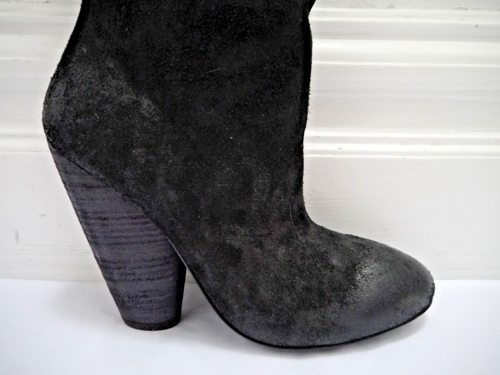 NEW NEW NEW MARSELL  1,680 black suede knee high boots Italian size 39.5 1e3dd2