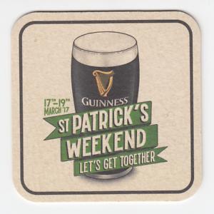 Guinness St Patrick/'s Weekend 2017 Beer Coaster Ireland