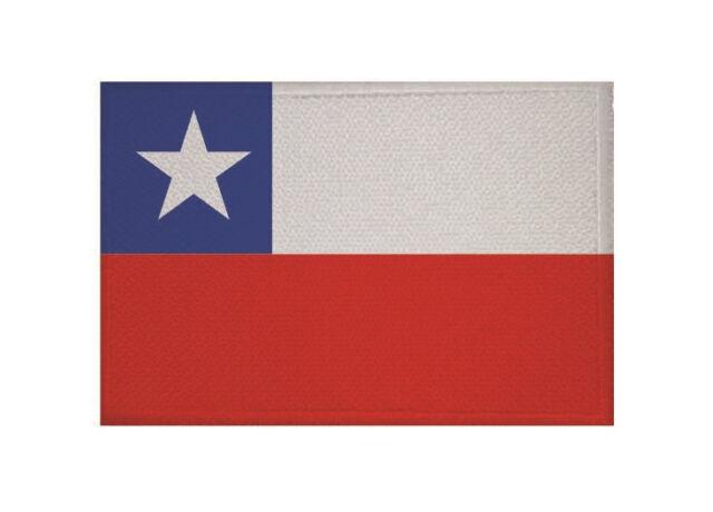 Aufnäher Chile Fahne Flagge Aufbügler Patch 9 x 6 cm