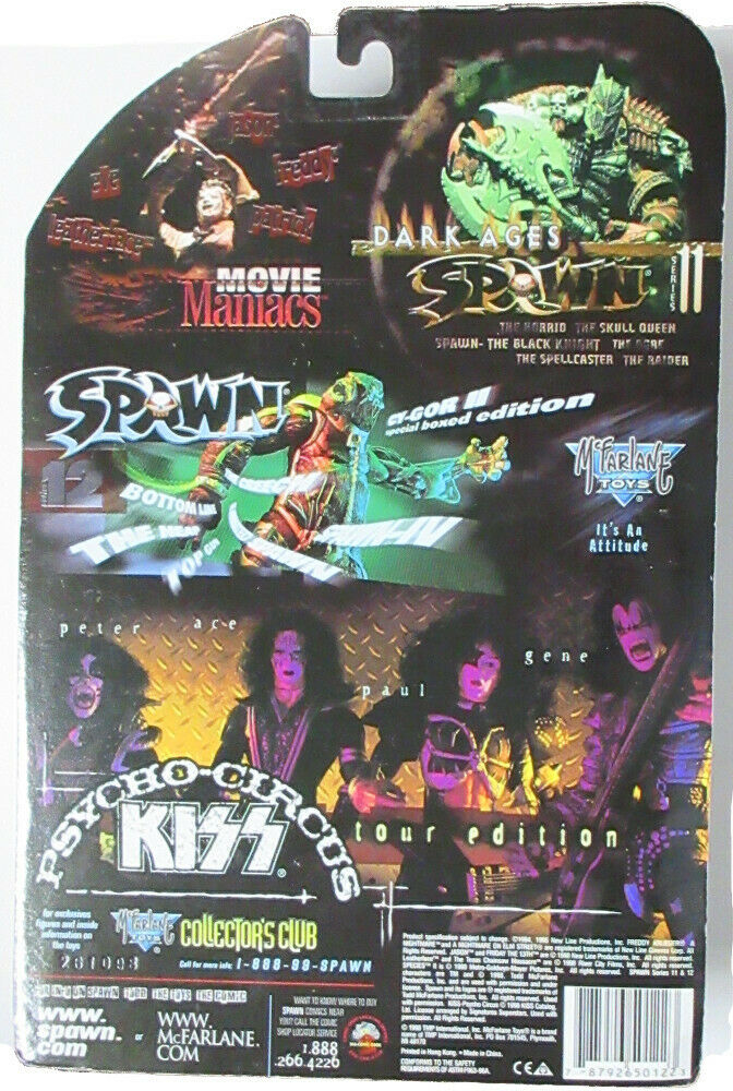 Kiss Psycho Circus Tour Edition Set of 4 Action Figures McFarlane Toys MISB 1998 for sale online