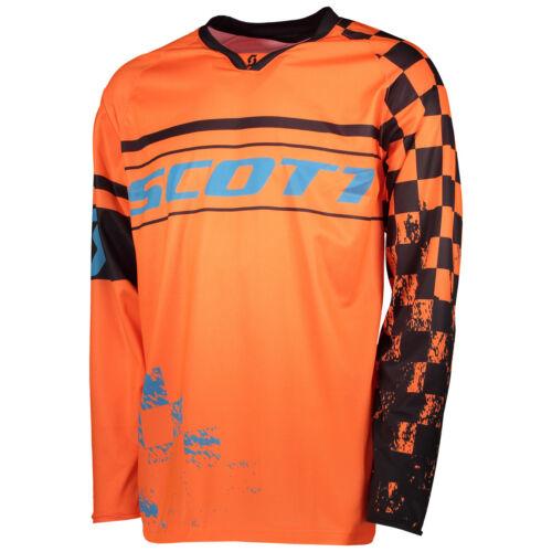 DH Fahrrad Trikot orange//blau 2018 Scott 350 Track MX Motocross Jersey