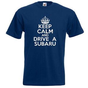 KEEP-CALM-AND-DRIVE-A-SUBARU-Mens-Funny-Impreza-4WD-T-Shirt-Tee-Top-Gift-Present