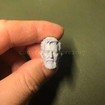 """1//12 Scale Obi Wan Kenobi Star Wars Head Sculpt Unpainted For 6/"""" Figure Body SHF"""