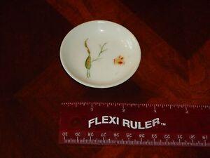 2-5/11-1886 Butterfly Fine Quality H & C Porcelain Butter Pat Confident Beautiful Antique Rare