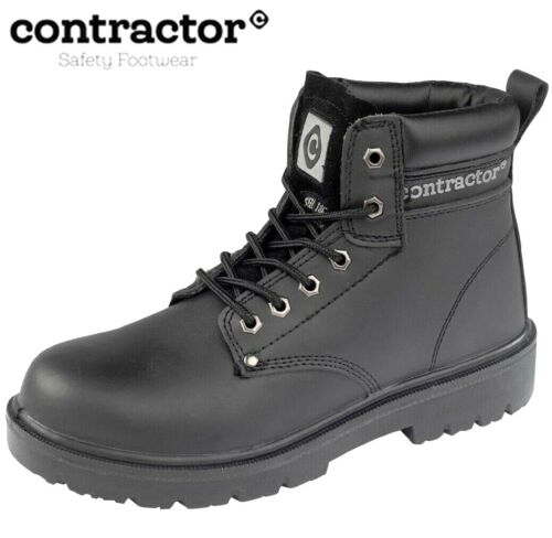 MENS S3  LEATHER WATERPROOF SAFETY STEEL TOE CAP/& MIDSOLE WORK BOOTS HIKER SHOES