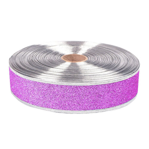 5Pcs Sparkle Glitter Ribbons Bling Christmas Wedding Party Craft Bows Supplies
