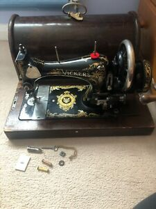 Vickers Modele De Luxe Antique Sewing Machine Bentwood