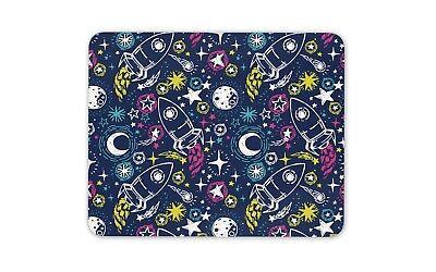 Razzo Nave Spaziale Tappetino Mouse Pad-moon Stars Galaxy Computer Per Bambini Regalo #14809-