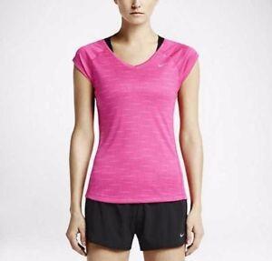 42d8a2e29c4fb Nike 644696 Women s DF Miler V-neck Print Tank Top Training Tennis ...