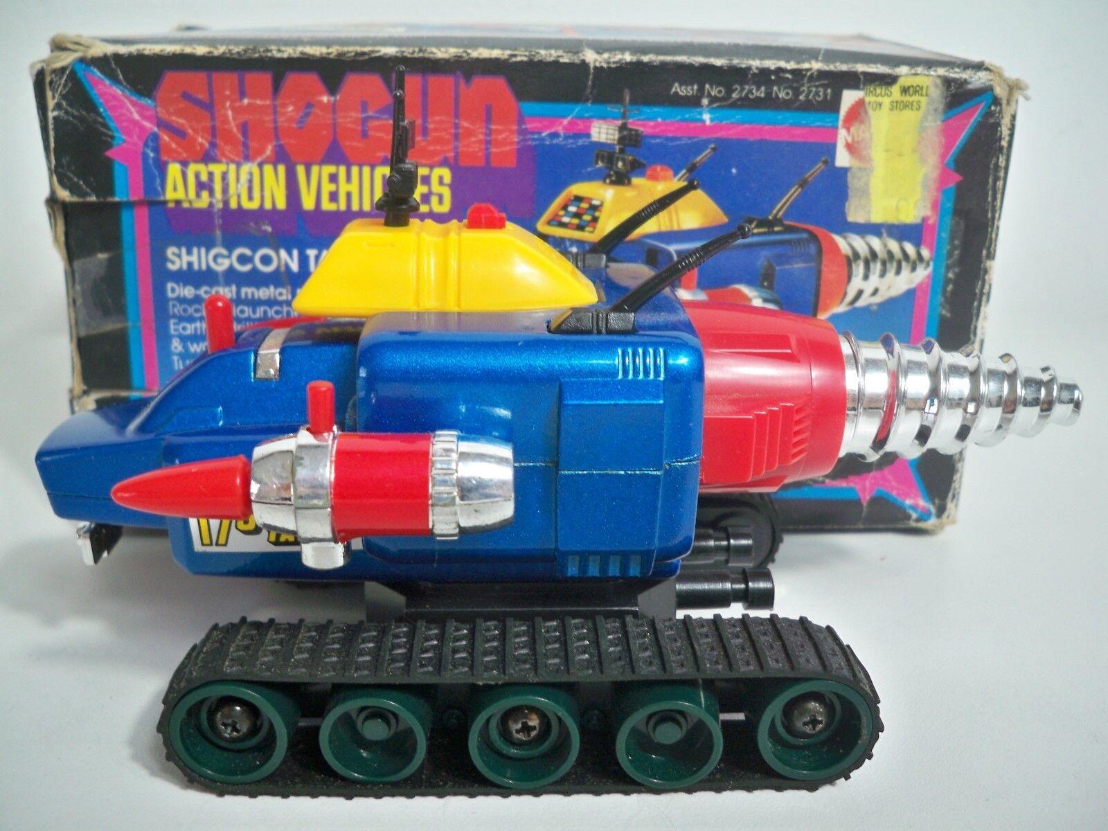 K187546 SHIGCON TANK W/ BOX SHOGUN WARRIORS 1978 DIECAST METAL 100% COMPLETE