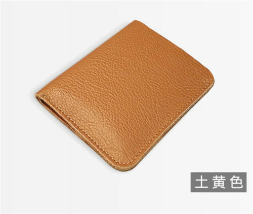 Mini Wallet Genuine Leather Short Wallet Soft Cowhide Coin Purse Card Holder