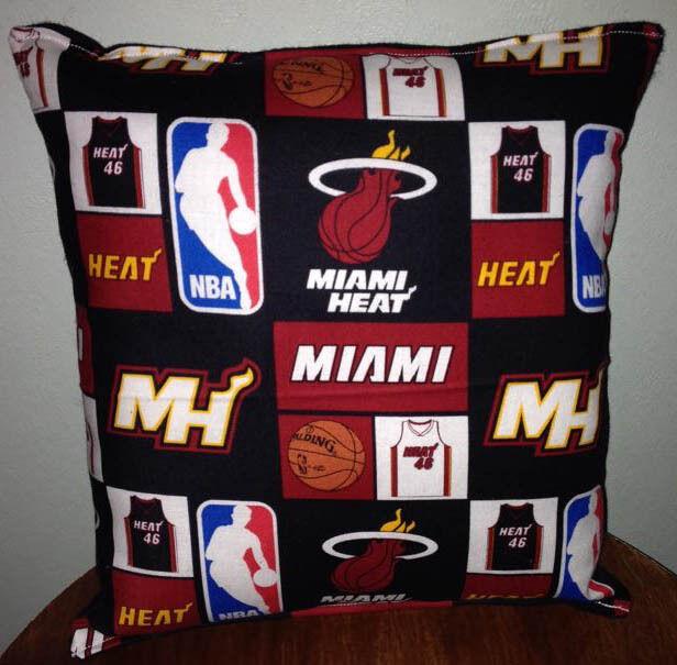 Miami Heat Pillow Miami Pillow NBA Handmade in USA