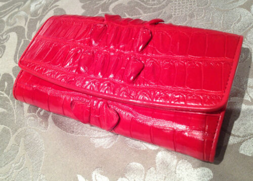 GENUINE CROCODILE SKIN Womens Clutch Long Zip Wallet Lady Card Purse Handbag