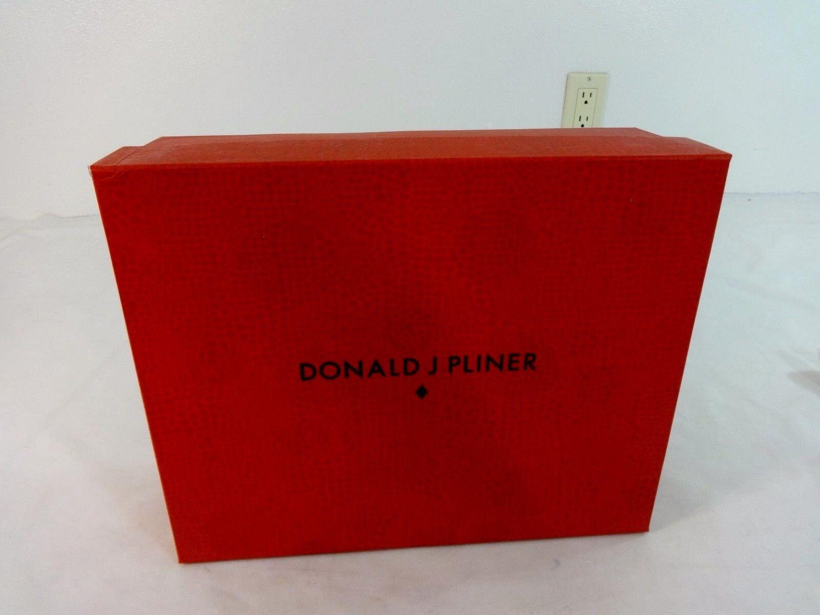 Neu Donald J.Pliner Leder Pliner Indigo Wash Leder J.Pliner Krokodil Riemchen Absätze Größe 6M c033a5