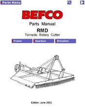 Befco Tornado Rmd Series Rotary Cutter Service Parts Manual 2002