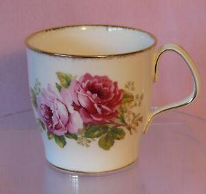Royal-Albert-Coffee-Mug-Cup-American-Beauty-Pink-Roses-Gold-Gilt-Bone-China