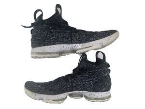Nike LeBron 15 XV Ashes Black White Oreo 897648-002 ~ Size 11
