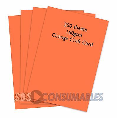 250 SHEETS A4 160gsm CLAIREFONTAINE COLOURED CRAFT CARD 1004 CORAL RED