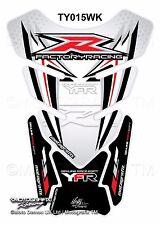 Yamaha YZF R1 / R6 White Red Motorcycle Tank Pad Motografix 3D Gel Protector