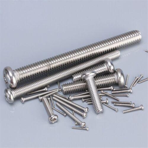 M4*4MM-100MM MACHINE SCREWS ROUND HEAD PHILLIPS SCREWS 304 A2 STAINLESS GB//T818