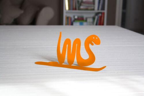 Serpente arancio con piattino porta spirali antizanzare e incenso SpirHello®