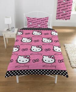 Copripiumino Hello Kitty.Hello Kitty Letto Singolo Federa Copripiumino Lenzuola Ebay