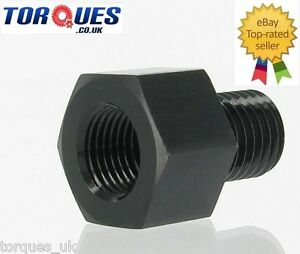 1-8-034-NPT-Female-To-M10x1-0-Male-Reducer-Oil-Pressure-Gauge-Adapter-Black