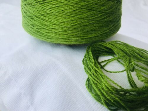 500 Gram Cone Dark Lime 3ply Soft Acryic