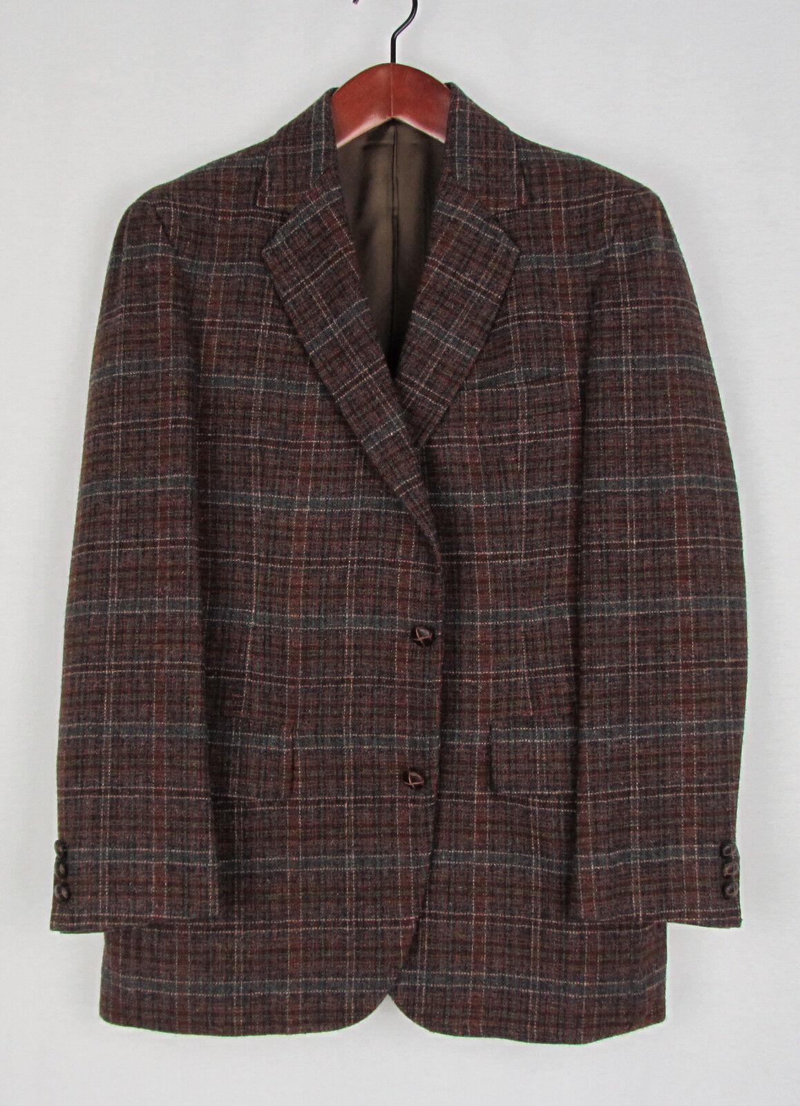 New Pendleton Multi-color Patterned Wool Tweed Sport Coat 40