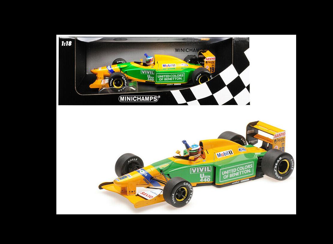 BENETTON FORD B192 1st Victory SPA 1992 M.Schumacher 1 18 110920019 Minichamps