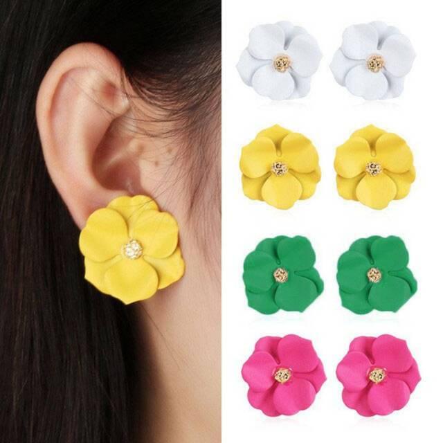 Korean Flower Stud Earring Women Girls Floral Stud Earrings Fashion Accessories