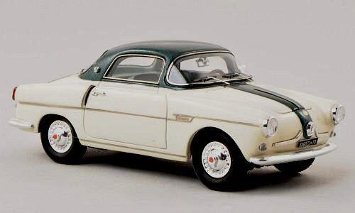 Wonderful modelcar FIAT 600 VIOTTO  COUPE 1956  - cream and verde  - scale 1/43