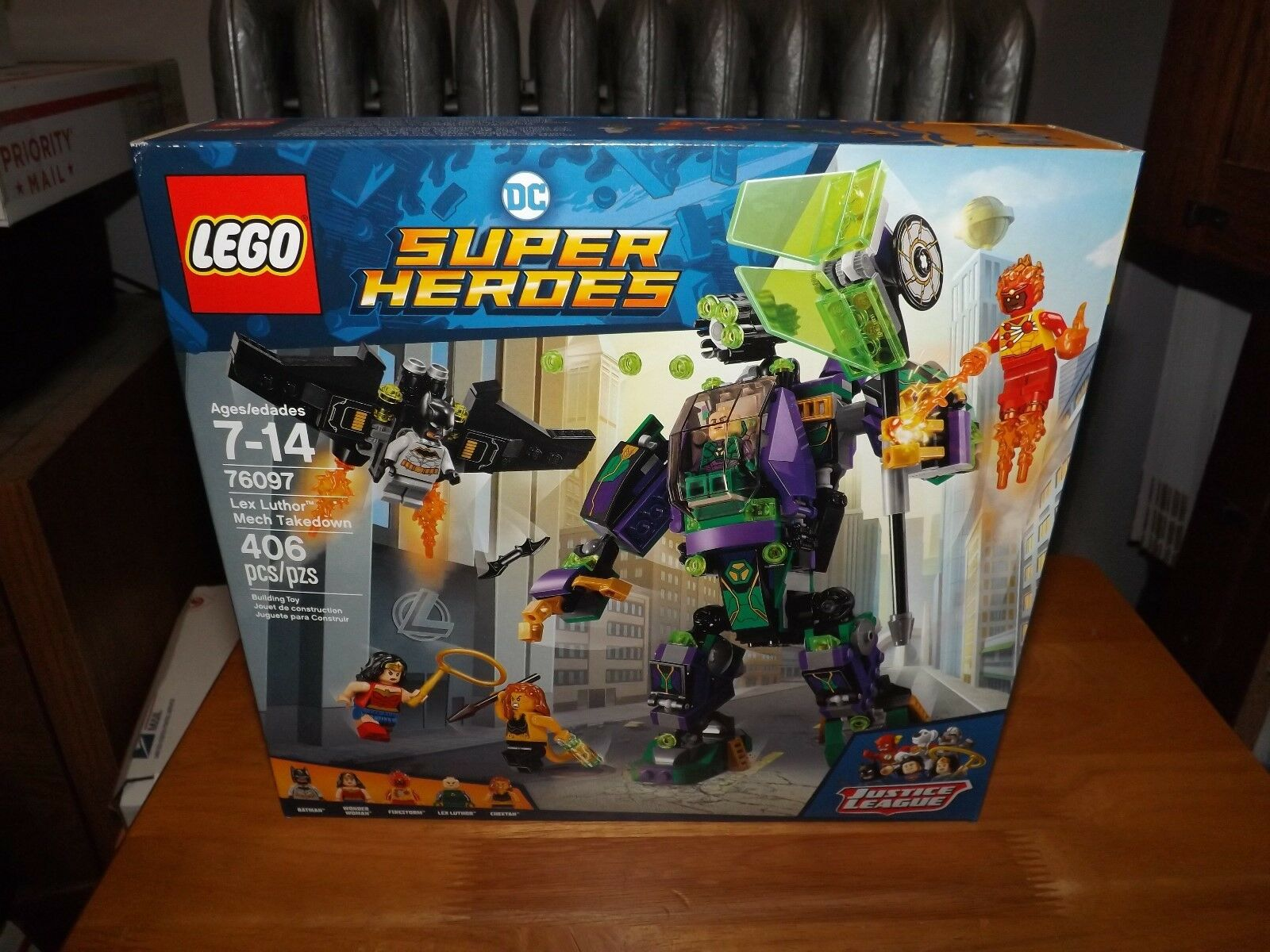 LEGO, DC SUPER HEROES, JUSTICE LEAGUE, LEX LUTHOR MECH TAKEDOWN TAKEDOWN TAKEDOWN NIB 2018 0709cd