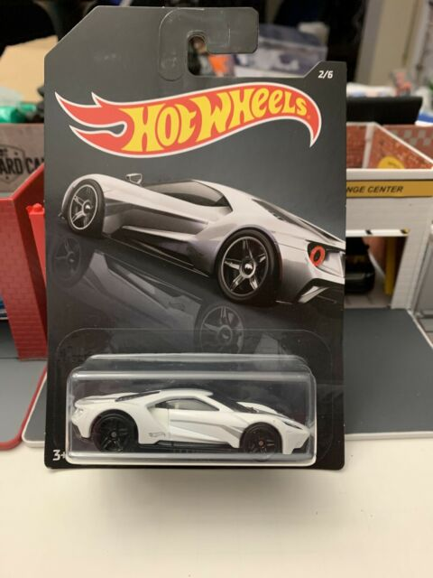 Long Card by Mattel Hot Wheels 2019 Exotics Series 17 Ford GT White 2//6