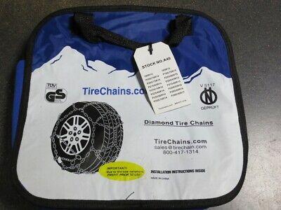 TireChain.com P225//70R14 P225//70 14 TUV Diamond Tire Chains Set of 2