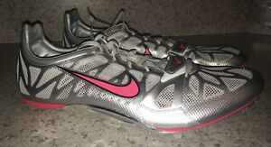 5fc399d5d205 NIKE Zoom Superfly R3 Sprinter Spikes Shoes Silver Solar Red Sprint ...