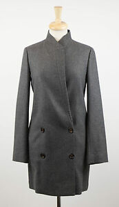 NWT-BRUNELLO-CUCINELLI-Woman-039-s-Gray-Cashmere-Full-Length-Coat-Size-10-46-6695