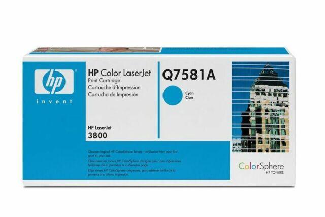 Genuine HP Q7581A Cyan Laserjet Toner Cartridge (503A)