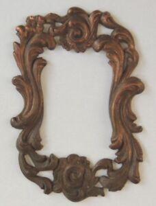 Ancien Cadre Miniature En Métal, Inspiration Rocaille, Maison Poupée, à Coudre 1 Lissage De La Circulation Et Des Douleurs D'ArrêT