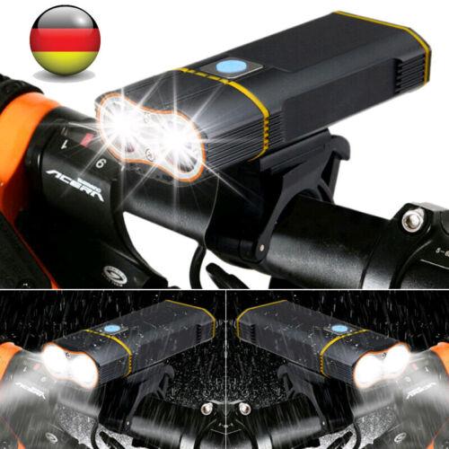 USB T6 LED Fahrradlampe Fahrrad Licht Fahrradbeleuchtung Fahrad Scheinwerfer DE