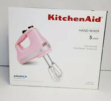 in Box KitchenAid Hand Mixer 5 Speed Pink Guava Glaze ...