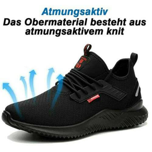 UK Men Safety Shoes for Women Steel Toe Trainers Lightweight Work Shoes Sports @