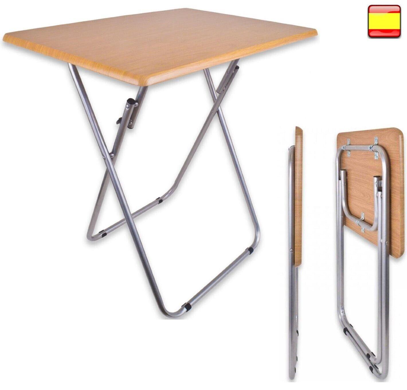 Mesa plegable portátil para Camping Terraza Jardín Mesa la Playa Metal y...