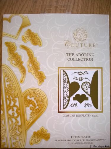 COUTURE The Adoring Collection CLOSURE TEMPLATE 17322 11 Dies HEART