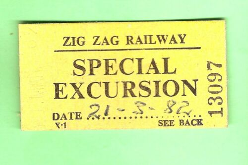 #D109. 1982 LITHGOW ZIG ZAG RAILWAY SPECIAL EXCURSION TICKET #13097