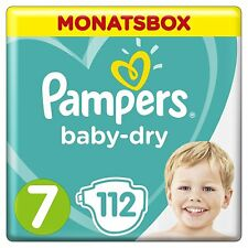 Pampers Baby-Dry Windeln Gr Größe 7 17+kg  Monatsbox Spar Box  112 Stück